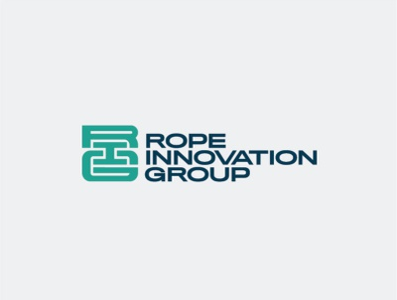 Rope company logo monograms monogram mark navy teal grey industrial logo ropes logo industrial industry rope