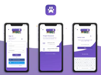 Pet-care App - Sign in process