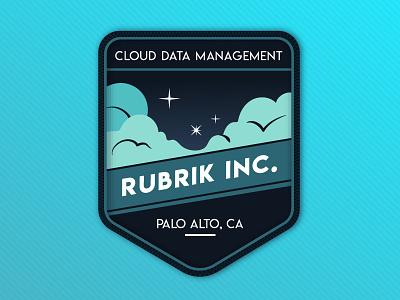Rubrik Inc. Patch hello dribbble outdoor camp cloud patch rubrik