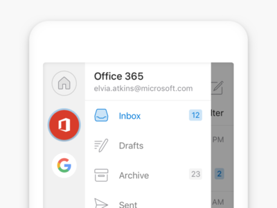 Redesigned Navigation in Outlook for iOS account outlook email ios navigation