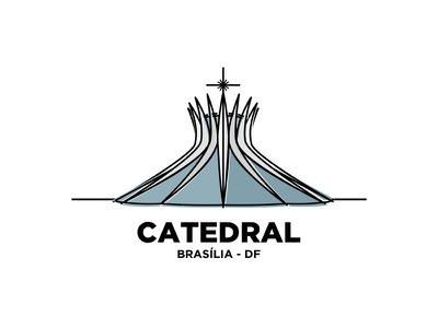 Catedral catedral brasil brasilia peace illustration logo church