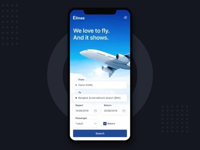 Elines Booking Flight