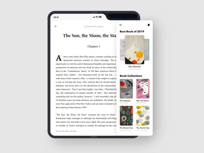 Ebook Reading App Foldable book application book cover ebook cover simple ui concept clean books minimalism reading app mobile app ebooks samsung galaxy foldable