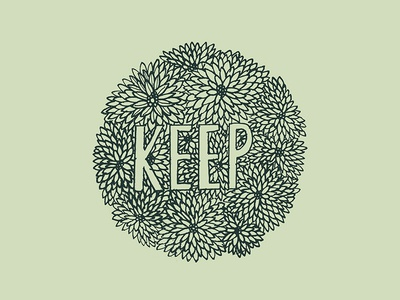 keep hand drawn flowers floral type drawing illustration