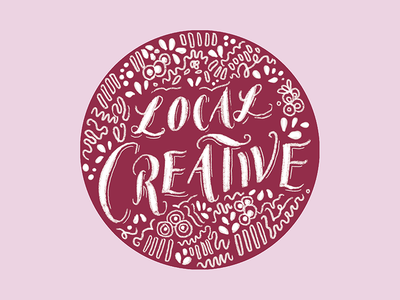 local creative drawing daily doodle letters illustration