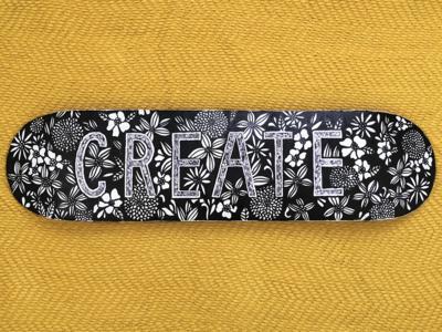 create drawing doodle hand drawn flowers illustration art skateboarddesign skateboard design illustration art floral deck skateboard