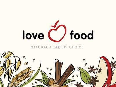 Love Food Branding health healthyfood food branding brand identity brand design branding illustration logo
