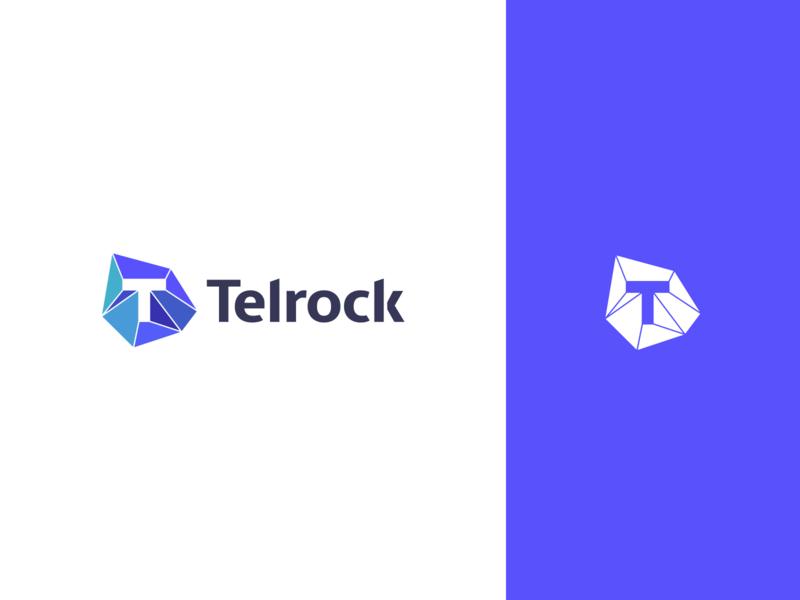 Telrock Logo fin tech brand identity font mark icon branding identity branding identity logo