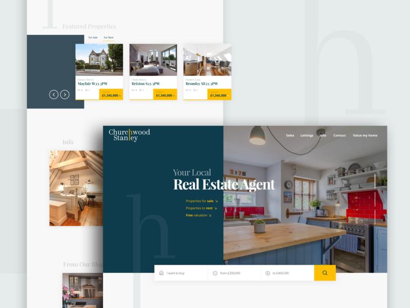 Estate Agent Lander web design estate agents landing scree landing page website design website