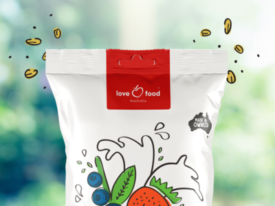Lfa Branding food  drink love heart food branding food brand illustration logo branding