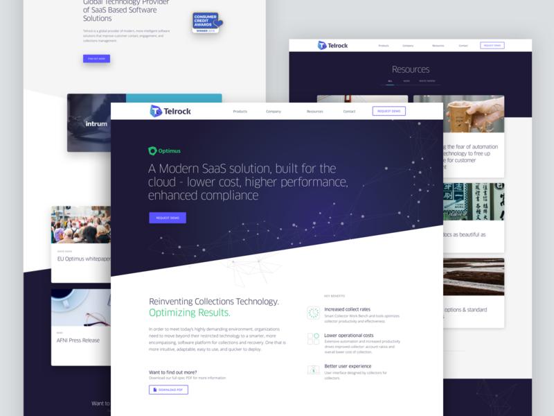 Telrock Website software fintech ux design interface design branding website ui design web design
