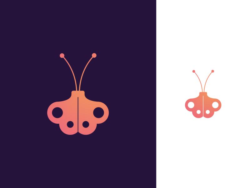 Clockwork Butterfly logos logo designs logo designer logo design logo mark logomarks logotype clockwork logodesign logo insect logomark butterfly