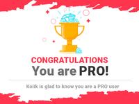 Congratulation Pro - Modal to contratulate