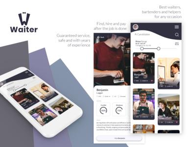 Waiter app - UI / UX tests