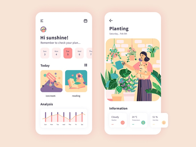 planting design ui illustration