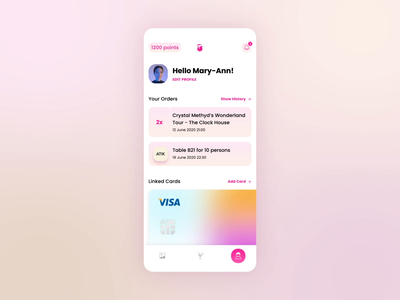 Mobile app user profile design minimal aftereffects adobe xd ux interaction design interaction app design app ui mobile design ui design mobile app app transactions tickets card uiux mobile design animation ui