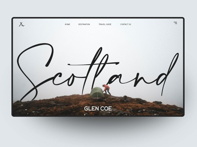 Website Ui Design Concept - Scotland type typography landing page design concep homepage uidesign ui website sketch