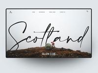 Website Ui Design Concept - Scotland type typography landing page design concep homepage uidesign ui website sketch