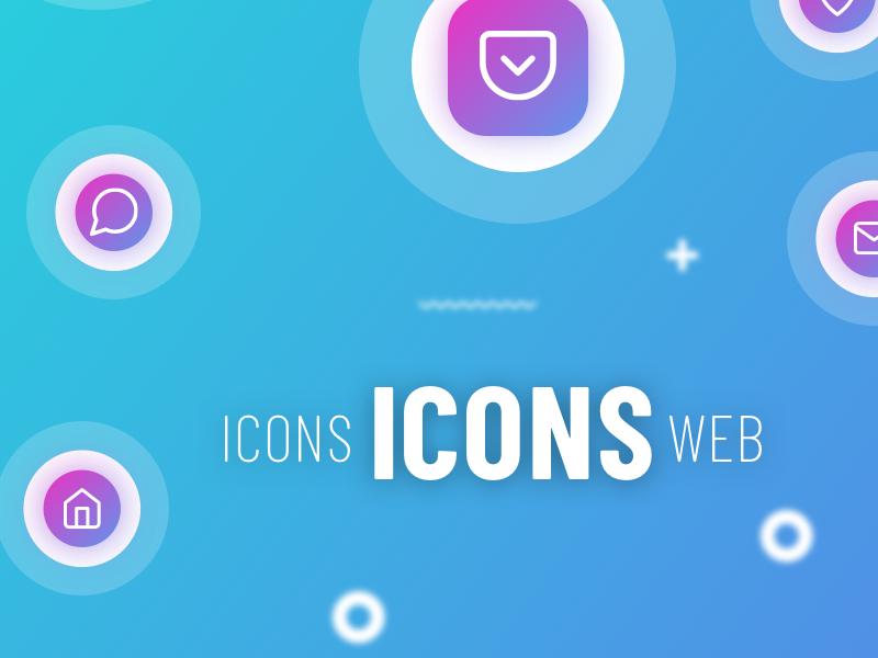 website icons set | sketch | FREE flat download set gradient sketch icons icon freebie