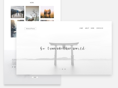 Minimal Theme landingpage adobexd website themes minimal