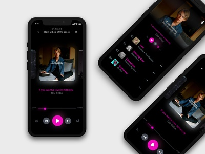 Music App Demo music design concep studio ios app ui