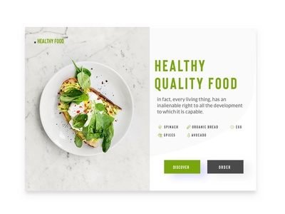Food Card web healthy food food app concept app design ux designer website website concept responsive dashboard dash clean card studio