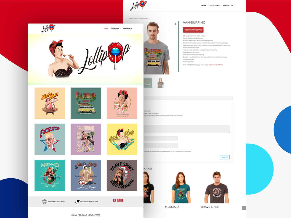 Lollipop4All Website theme web design web development t-shirt ux ui home design store logo landing page illustration web website sketch
