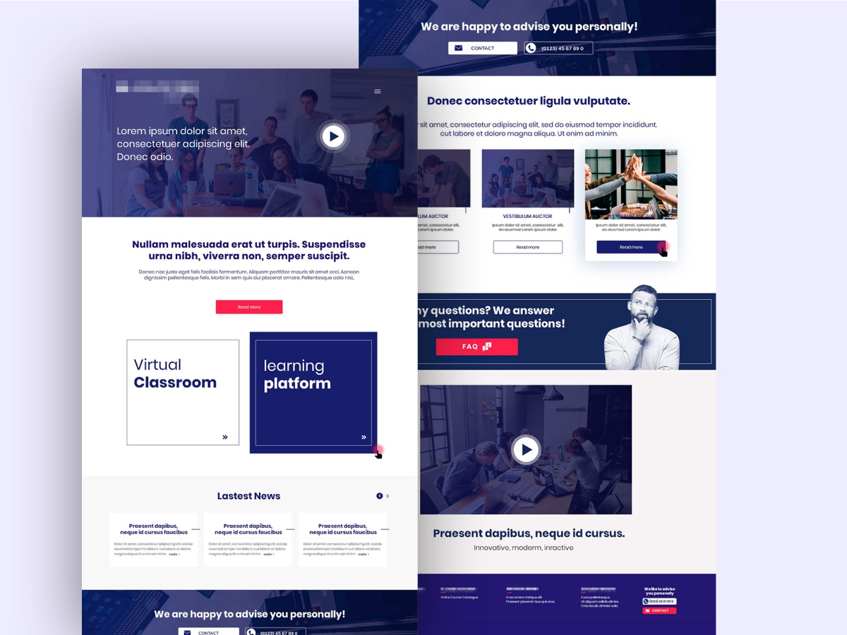 Business Theme concept typography one page showcase navigation platform work interface creative agency landing page homepage web development web design web theme website business sketch