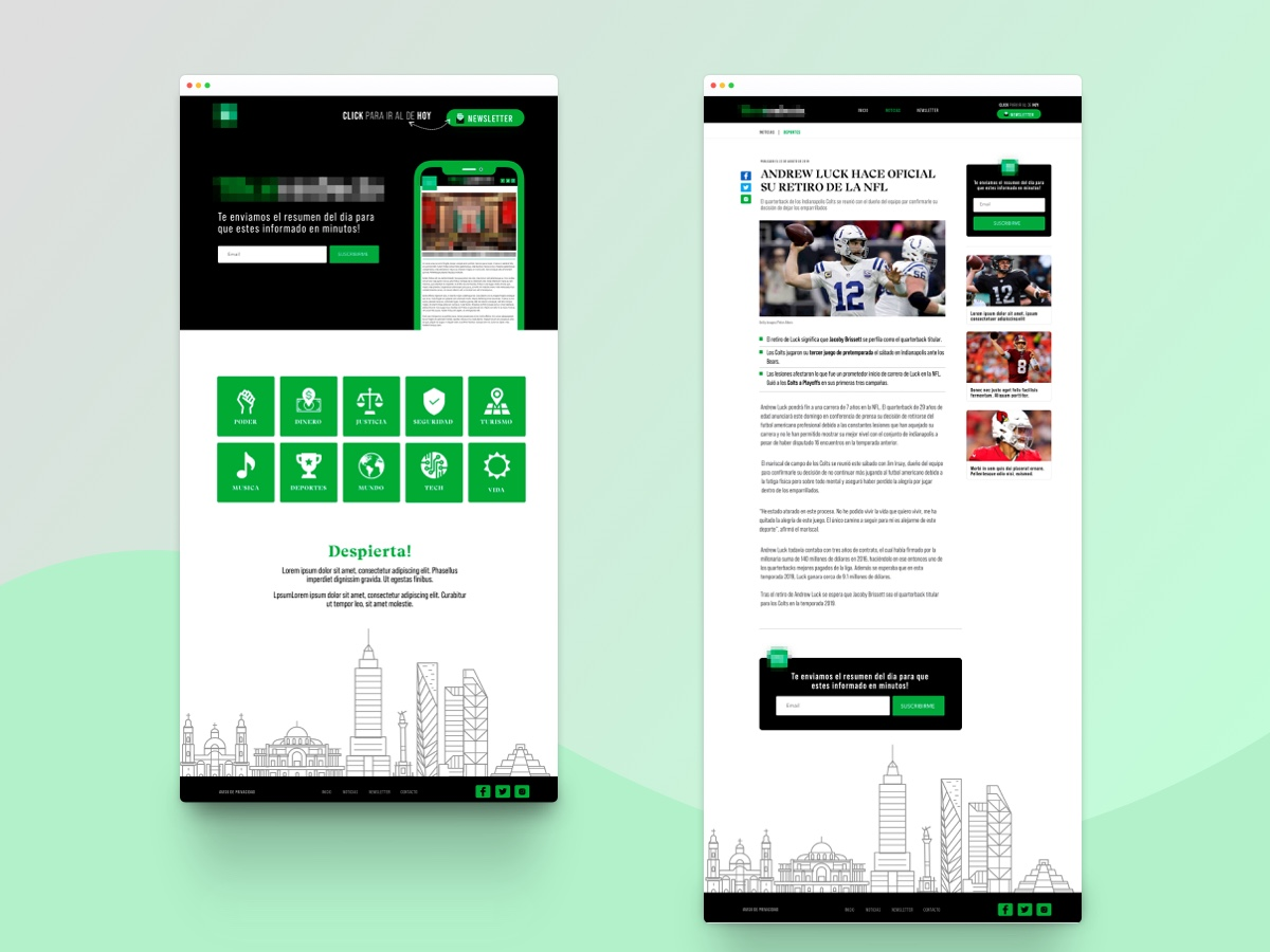 News Theme news landingpage homepage theme news theme sketch
