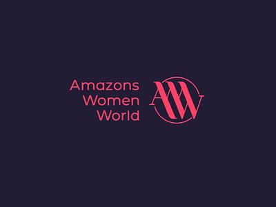 Amazons Women World monogram aww simple type lettering font letter branding brand identity logotype logo