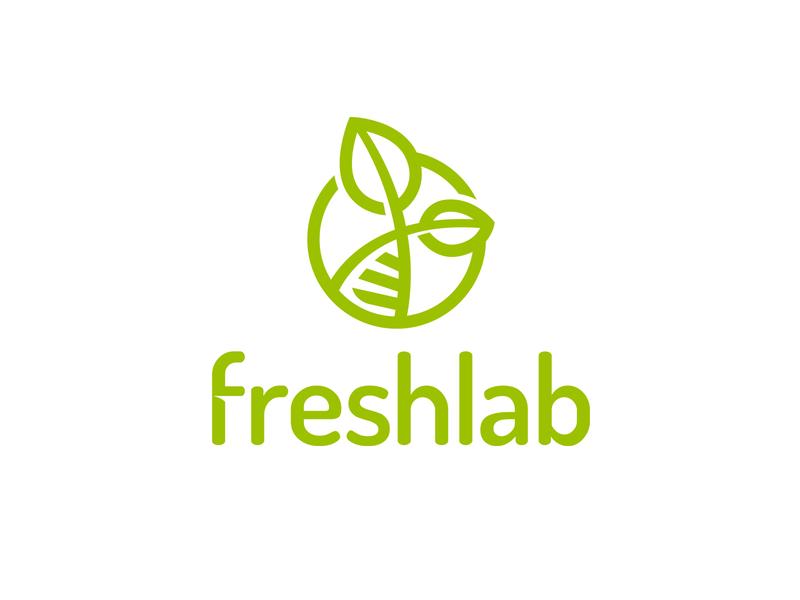 Freshlab products delivery laboratory fresh simple illustration type lettering font letter branding brand identity logotype logo