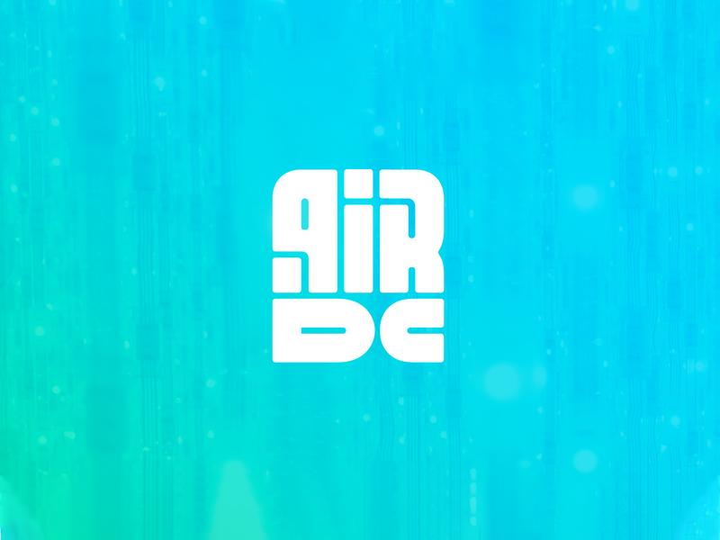 AirDC center data dc air illustration type lettering font letter branding brand identity logotype logo
