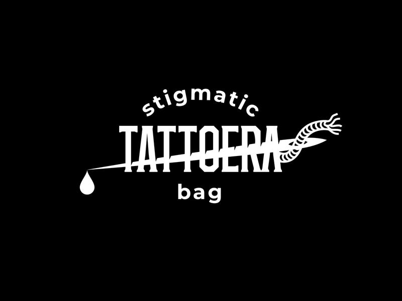 Tattoera stigmatic bag tattooer illustration type lettering font letter branding brand identity logotype logo