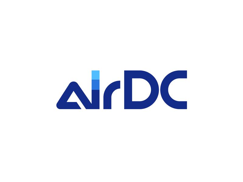 AirDC center data air dc illustration type lettering font letter branding brand identity logotype logo