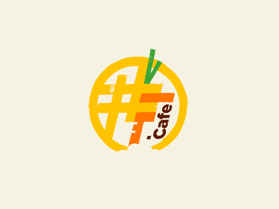 #F.cafe waffles cafe f simple illustration type lettering font letter branding brand identity logotype logo