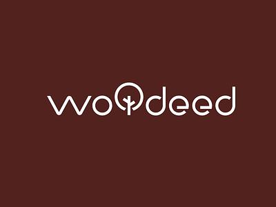 Wooded utensils wooded wood simple illustration type lettering font letter branding brand logotype logo identity