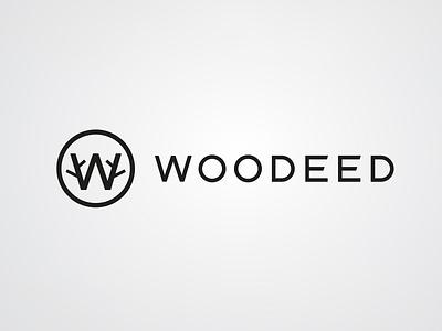 Woodeed utensils wood w illustration type lettering font letter branding brand logotype logo identity