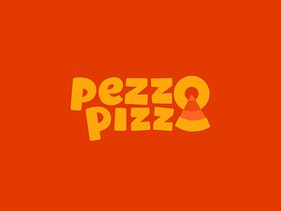 Pezzo Pizza piece pizza pizzeria illustration type lettering font letter branding brand logotype logo identity