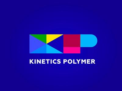 Kinetics Polymer painting kinetics polymer illustration type lettering font letter branding brand logotype logo identity