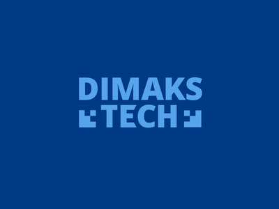 Dimaks Tech it illustration type lettering font letter branding brand logotype logo identity