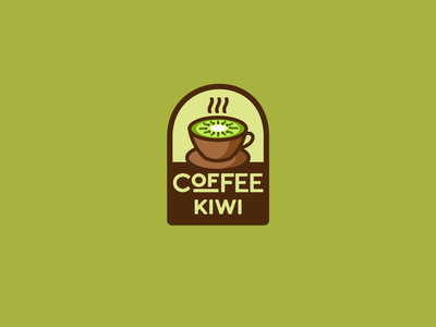 Coffee Kiwi togo to kiwi coffee illustration type lettering font letter branding brand logotype logo identity