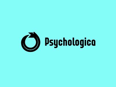 Psychologica ouroboros snake psychology type lettering font letter branding brand logotype logo identity