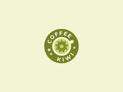 Coffee Kiwi shop togo coffee kiwi font letter branding brand logotype logo identity