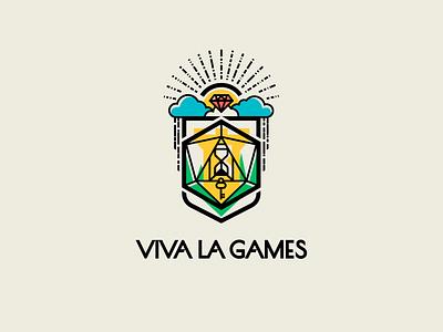 Viva la games games board manufacturer illustration design font letter branding brand logotype logo identity