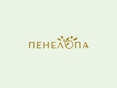 Penelopa boutique clothes woman design font letter branding brand logotype logo identity