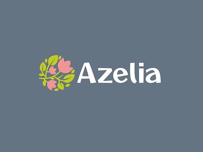 Azelia shop flower azelia design font letter branding brand logotype logo identity