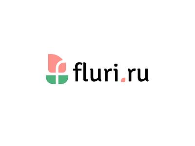 Fluri.ru f store shop flower design font letter branding brand logotype logo identity