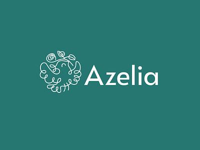 Azelia azelia bird store shop flower design font letter branding brand logotype logo identity
