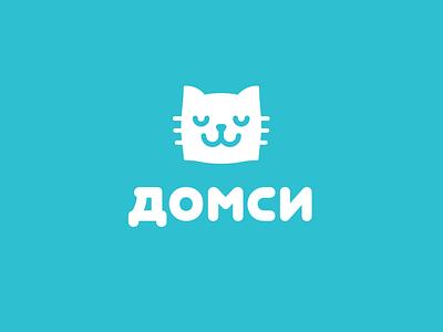 Domsy pillow shop cat chain store goods household house domsy illustration design font letter branding brand logotype logo identity