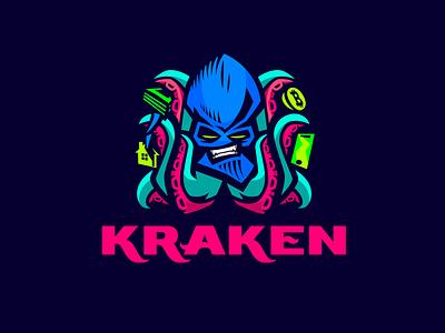 Kraken phone dark money house bitcoin kraken chanel telegram design font letter branding brand logotype logo identity